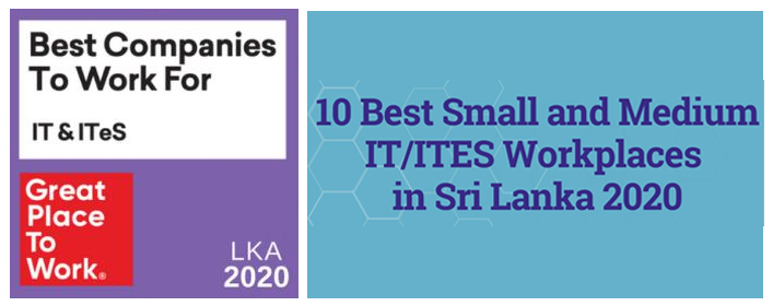 Great Place to Work®                  Sri Lanka 2020 logo